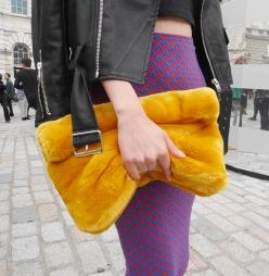 Zara furry bag